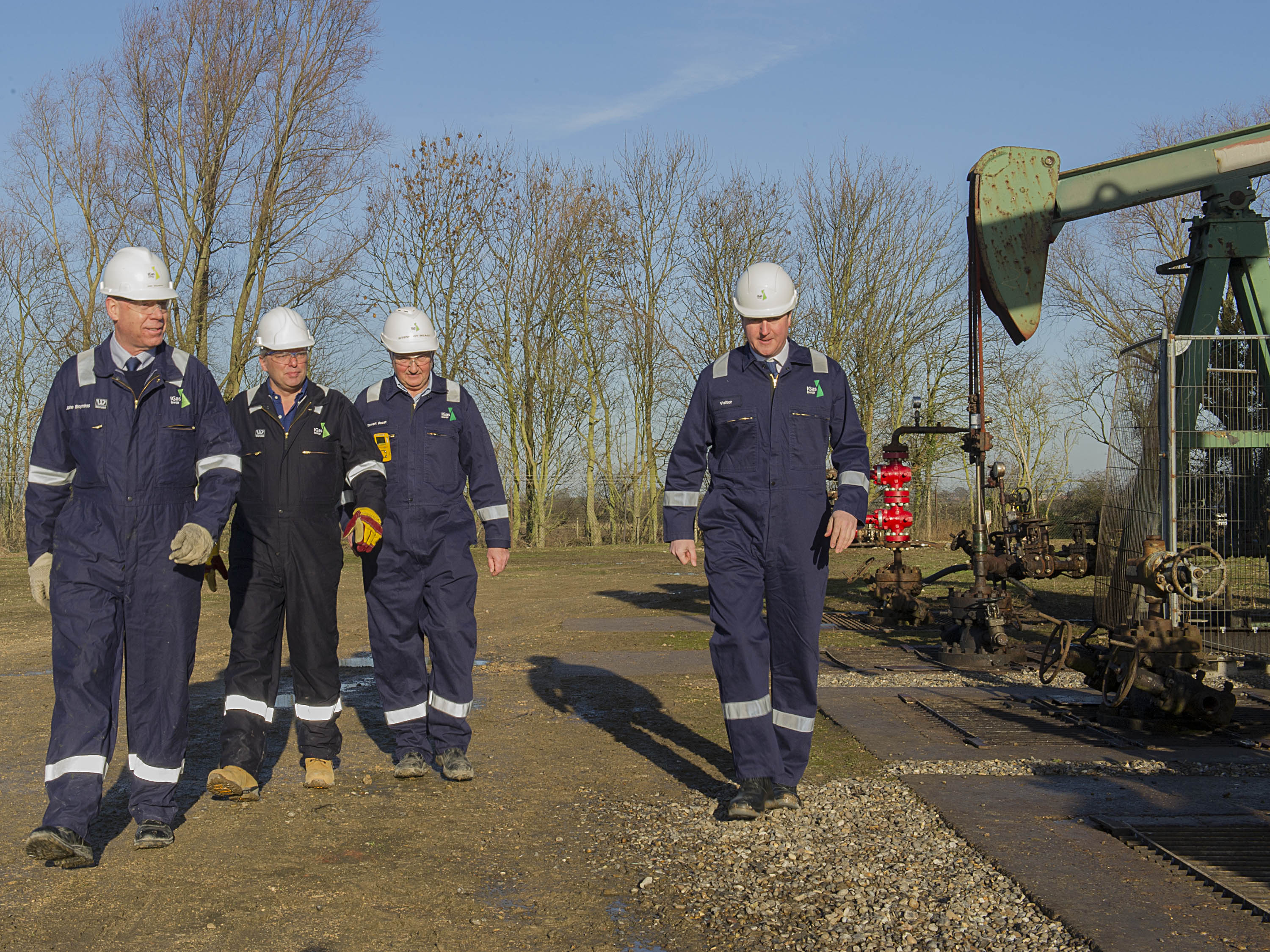 PM's Energy visit to IGas - Gainsborough